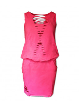 Bavlněné šaty s dírama