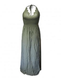 Dlouhé šaty s krajkovým živůtkem