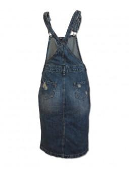 Džínová laclová sukně