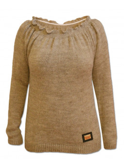 Pletený svetr s kanýrem